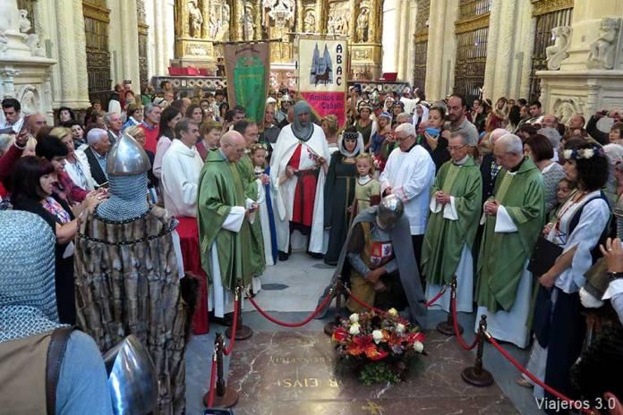 Ofrenda floral en el Fin de Semana Cidiano en Burgos