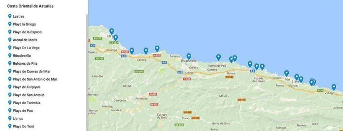 Mapa Costa De Asturias.Ruta Por Las Mejores Playas Y Pueblos De Asturias Viajeros 3 0