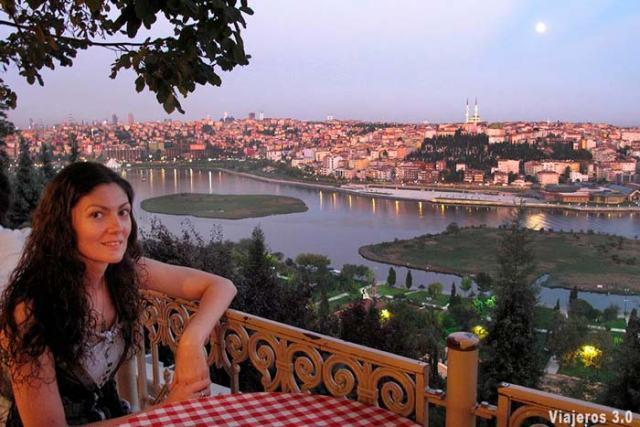 vistas desde el Café Pierre Loti en Estambul