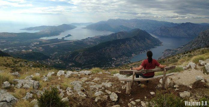 vistas panorámicas de la Bahía de Kotor