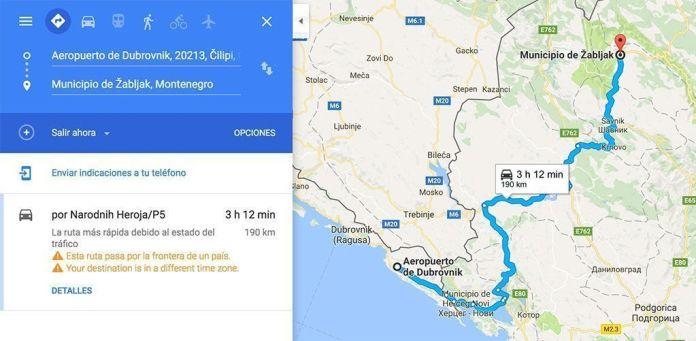 Guía de Montenegro, la ruta en coche