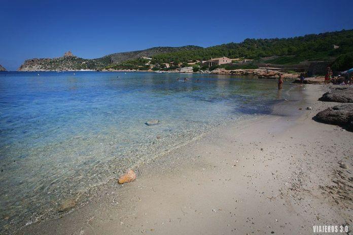 playa desa Platgeta en el Parque Nacional de Cabrera