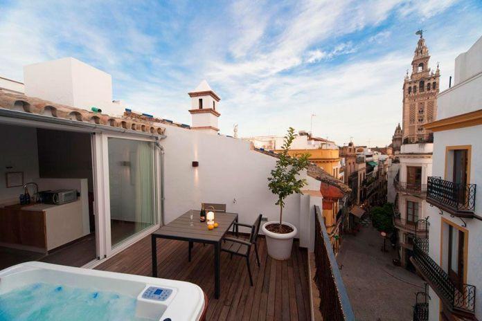 hoteles con jacuzzi privado en Sevilla