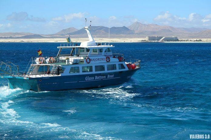 barco desde Fuerteventura a la isla de Lobos