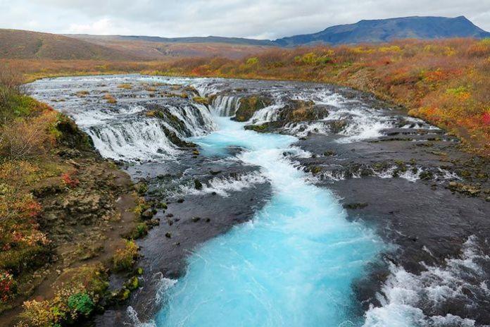 Ruta del Círculo Dorado en Islandia, cascada Bruarfoss