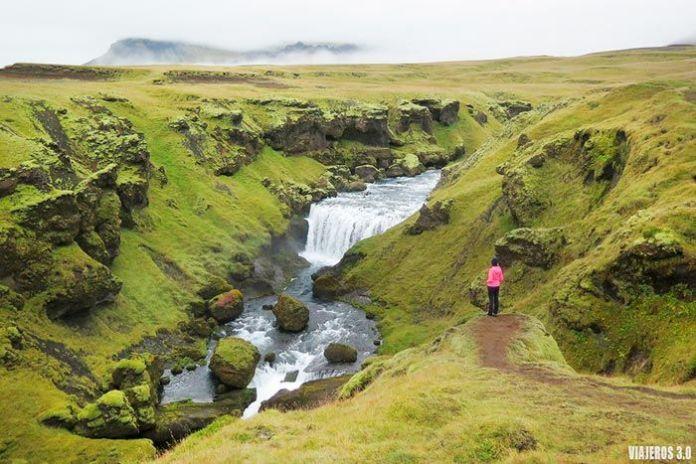 cascadas río Skogar, ruta por Islandia en 2 semanas