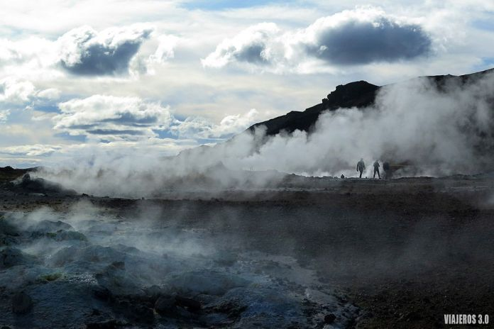 Sulfaratas en Hverir, ruta por Islandia en 2 semanas