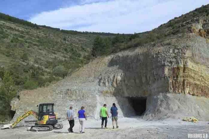 imagen de la mina de pirita de Navajún