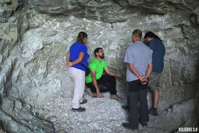visita guiada en la mina de Navajún en La Rioja