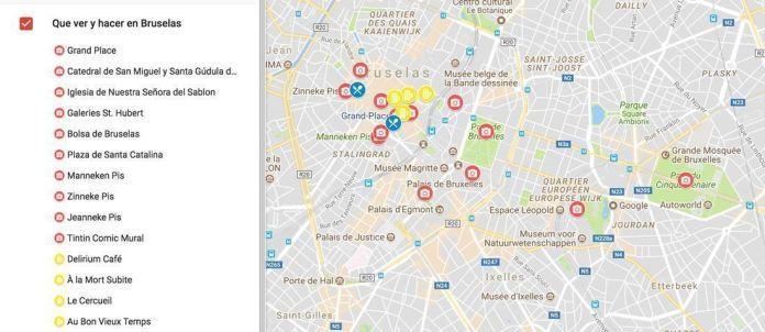 qué ver y hacer en Bruselas, mapa de localización