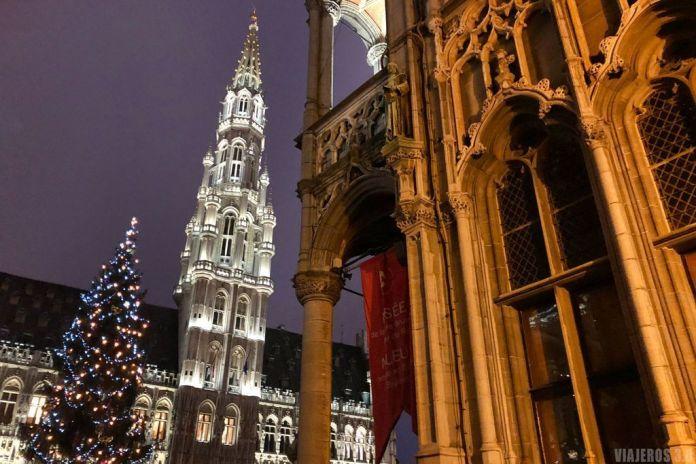 qué ver y hacer en Bruselas, Grand Place de noche