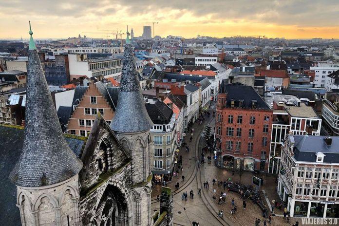 qué visitar en Gante, vistas panorámicas