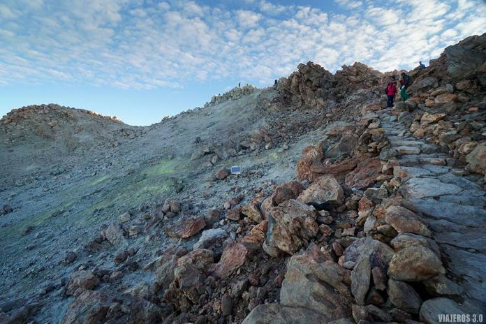 cráter del Teide, cómo subir al pico del Teide caminando