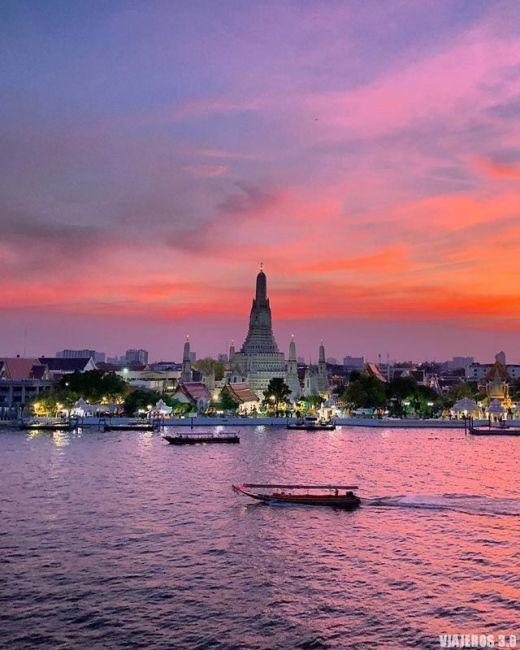 Atardecer desde el barRattanakosin, planes que hacer en Bangkok