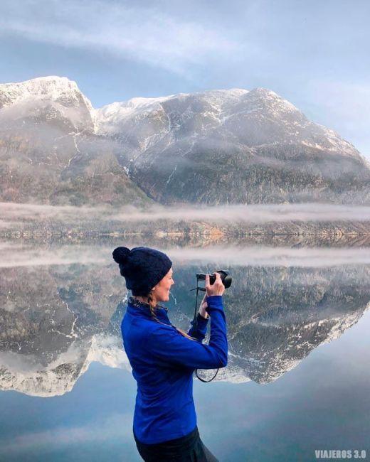 Ruta por el fiordo de Hardanger en Noruega.