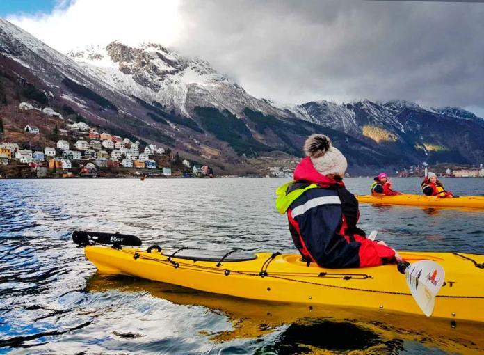 Fiordos cerca de Bergen, donde viajar en invierno a Noruega