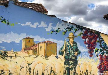 Mural en Tubilla del Lago en Burgos