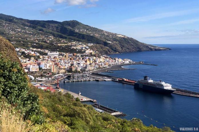 Imagen panorámica de Santa Cruz de La Palma.