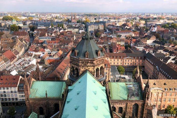 Plataforma de la catedral de Estrasburgo.