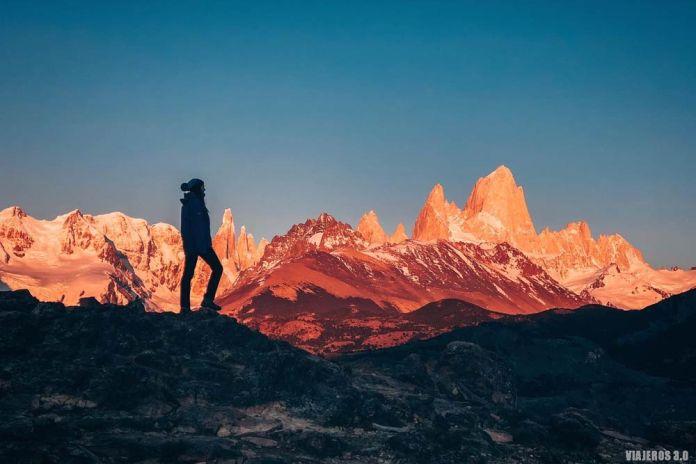 qué ver en El Chaltén, amanecer en el mirador del Condor.