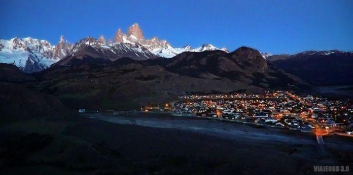 Panorámica de El Chaltén, Patagonia argentina