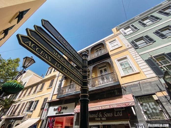 Centro histórico de Gibraltar.