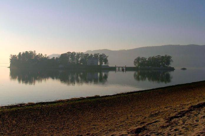 Isla de San Simón en Galicia