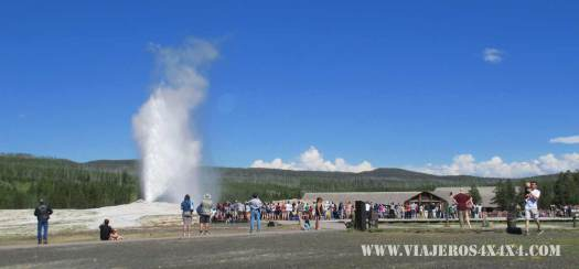 Geiser en Yellowstone National Park