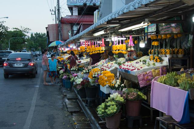 mercado de flores chiang mai - Talat Ton Lam Yai
