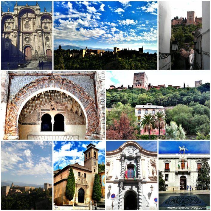Granada_Collage_ViajerosAlBlog