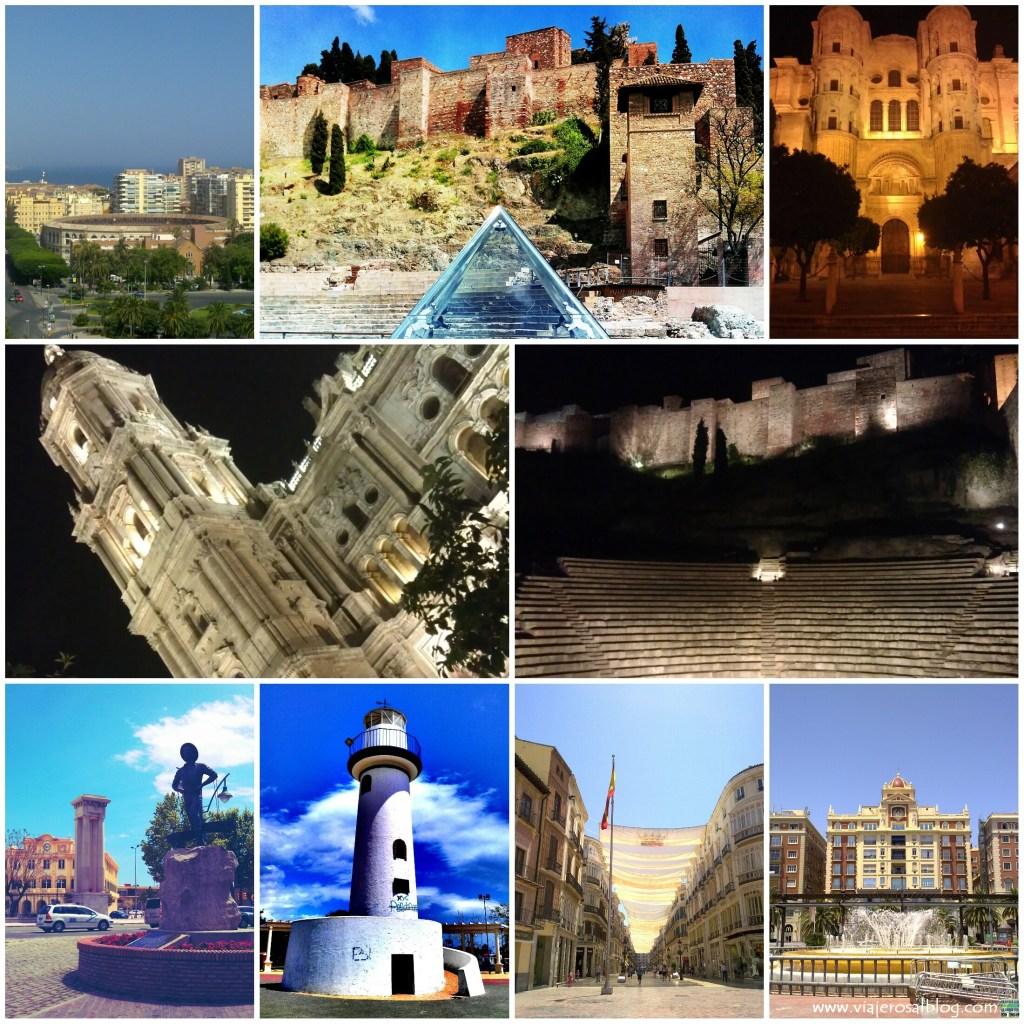Malaga_Collage_ViajerosAlBlog