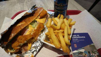 Dónde comer y gastronomía en Eindhoven (Holanda) - Comida rápida JIM's Food Factory. ViajerosAlBlog.com