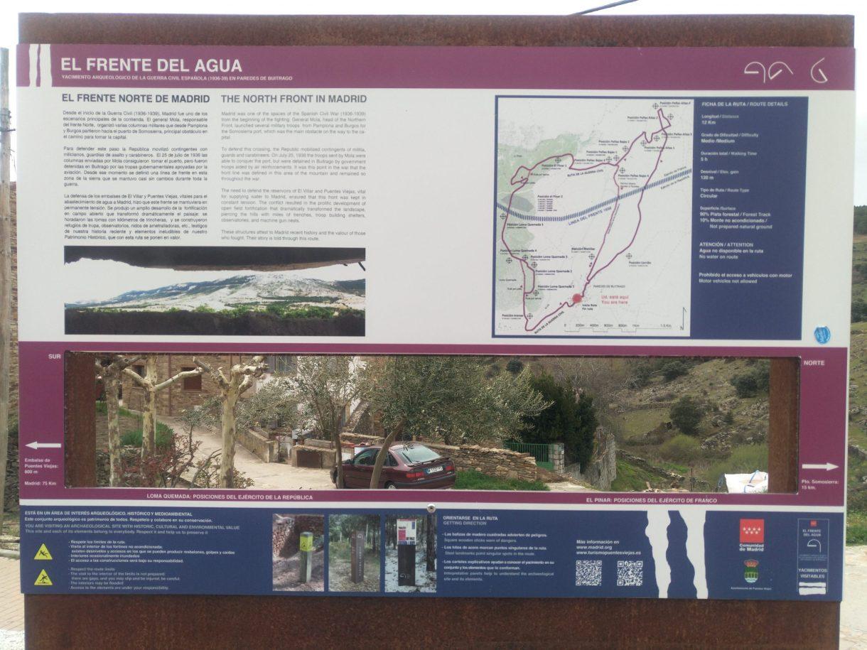 Frente del Agua (Paredes de Buitrago, Madrid). Espectacular ruta senderista - Vol.2.