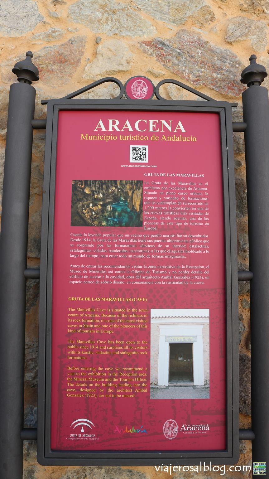 Gruta de las Maravillas. Un espectáculo en pleno centro de Aracena, Huelva.