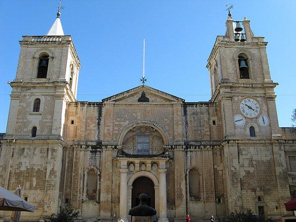 Catedral de San Juan en La Valeta, hogar de los caballeros de Malta