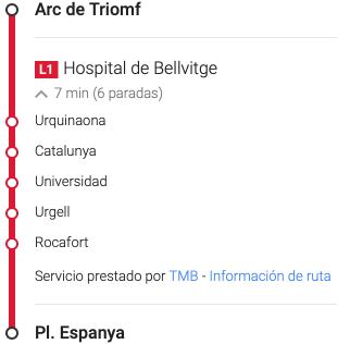 Información transporte público.