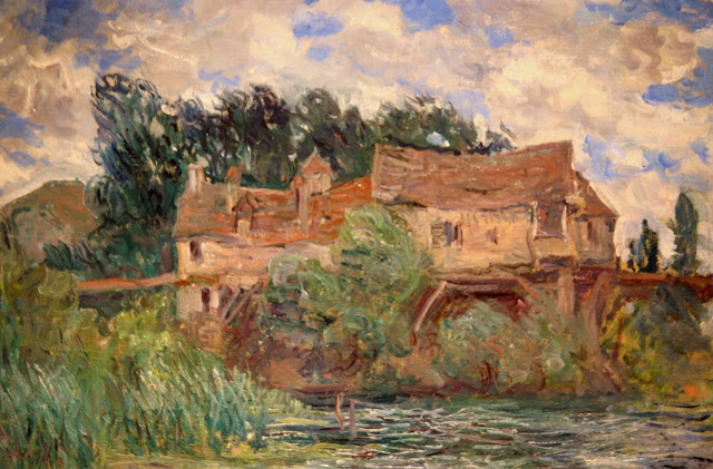 Molino de Vernon pintura de Monet