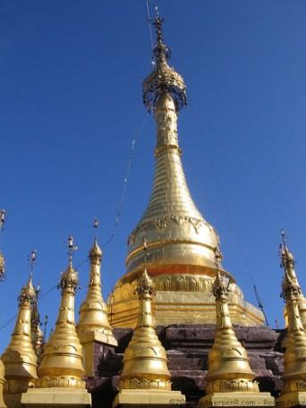 Golden summit - Taung Kalat - Myanmar, Burma
