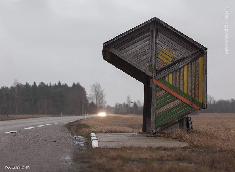 La extraña belleza de las paradas de autobús soviéticas