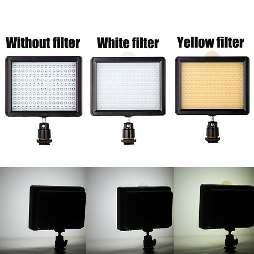 Andoer 160 LED de la lámpara del panel 12W 1280lm Dimmable para Canon Nikon Pentax DSLR Cámara de vídeo Videocámara 2