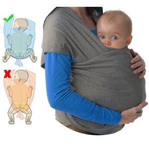Fular portabebés elastico para llevar al bebé ✮ fulares para hombre y mujer ✮ tonga pañuelo portabebe ajustable ✮ Lleve a su bebe cerca de su corazón 4