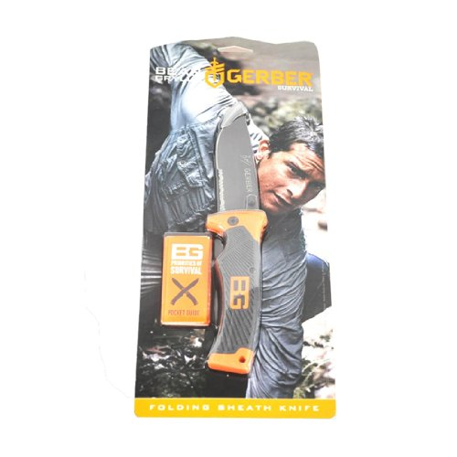 Gerber Bear Grylls Folding Sheath Knife, Serrated Edge [31-000752] 2