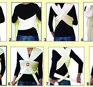 Hana Baby Wrap estándar bambú tejido elástico portabebés (Varios Colores) 5