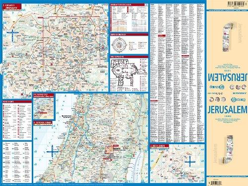 Laminated Jersusalem City Street Map by Borch (English Edition) 2