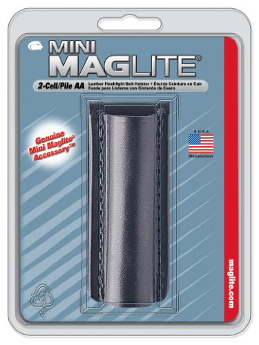 Maglite Black Plain Leather Holster for AA Cell Mini Flashlights 2