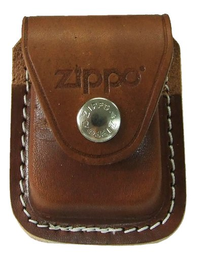 Zippo Pouch W/Clip Brown Bolsa de cuero 4