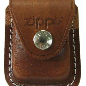 Zippo Pouch W/Clip Brown Bolsa de cuero 3