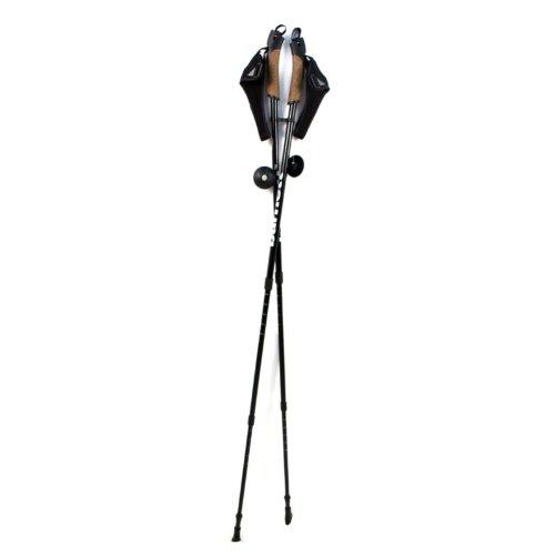 barnett NWA-3 bastones de senderismo walking aluminio, negro 2
