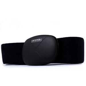 Arendo - correa de ritmo cardiaco / medidor de pulso (pulsómetro) | correa pectoral | transmisor con Bluetooth Smart 4.0 | impermeable | solo 14 gramos | negro | para productos Apple | con aplicación i-gotU Sports en muchos dispositivos Android 3