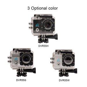 Ckeyin® 4K Ultra DV WiFi 16MP Action Cámara Sumergible 30M con Gran Angular 170º y la Pantalla LTPS LCD de 2,0 pulgadas 6